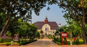 Phetchaburi Thailand - mars 19, 2015: Härligt landskap och Arkivfoton