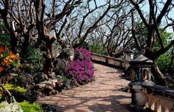 Phetchaburi, Thailand: Royal Palace Gardens Royalty Free Stock Photo