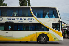 Phetprasert tour company. Bus for Route Ubon ratchathani and Chi Royalty Free Stock Image
