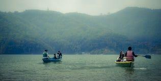 Phewa jezioro - Phokara Obraz Stock