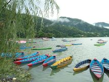 Phewa jezioro, Pokhara Zdjęcia Royalty Free
