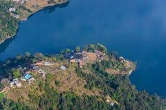 Phewa Lake aerial view in Nepal Stock Photo