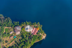 Phewa Lake aerial view in Nepal Royalty Free Stock Image