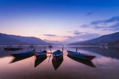 Phewa lake, Pokhara Royalty Free Stock Images