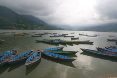 Phewa Lake, Pokhara Nepal Royalty Free Stock Photo