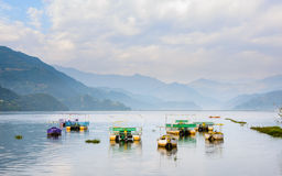 Phewa Lake in Pokhara Royalty Free Stock Photos