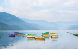 Phewa Lake in Pokhara Royalty Free Stock Photography