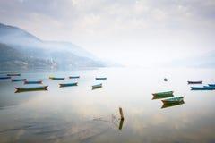 Phewa lake in Pokhara, Nepal Stock Photography
