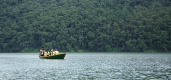 Phewa lake is the second largest lake in Nepal Royalty Free Stock Image