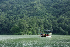 Phewa lake is the second largest lake in Nepal Stock Images
