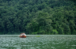 Phewa lake is the second largest lake in Nepal Stock Image