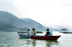 Phewa lake is the second largest lake in Nepal Royalty Free Stock Photo