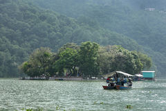 Phewa lake is the second largest lake in Nepal Royalty Free Stock Photography