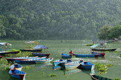 Phewa See ist der zweitgrösste See in Nepal Lizenzfreie Stockfotografie