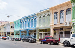 Phhket town shophouses Royalty Free Stock Photography