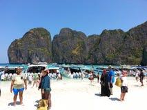 phi τοπίων νησιών βαρκών μαγική ανατολή ταϊλανδική Ταϊλάνδη Στοκ Εικόνα