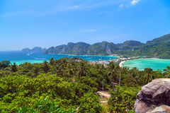 Phi Дон Phi Koh точки зрения в Таиланде Стоковое Изображение RF