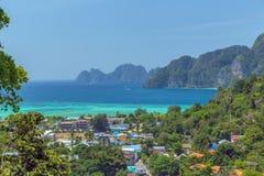 Phi Дон Phi Koh точки зрения в Таиланде Стоковое Изображение