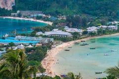 Phi Дон Phi Koh залива точки зрения в море andaman, островах k Phi Phi Стоковые Изображения