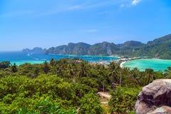 Phi Дон Phi Koh точки зрения в Таиланде Стоковые Фото
