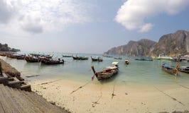 A phi da phi do Koh don a praia Tailândia Foto de Stock Royalty Free