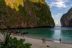 Phi di Maya Bay Sunrise Koh Phi immagini stock libere da diritti
