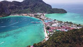 Phi Phi Don Tropical Island. Aerial View. Shot with a DJI Mavic fps29,97 4k stock video footage
