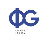 Phi en G Logo Design royalty-vrije illustratie