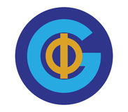 Phi and G Logo Design. Phi and G Logo Concept Design Royalty Free Stock Photo