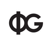 Phi and G Logo Design. Phi and G Logo Concept Design. EPS 8 supported Stock Photography