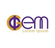Phi and GEM Logo Design. Phi and GEM Logo Concept Design Stock Images