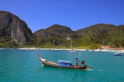 Phi Phi Island in Thailand. Phi Phi Island to the west of the `knee` in the Andaman Sea. Technically, Phi Phi is two islands: Ko Phi Phi Don, where Long Beach Stock Photos