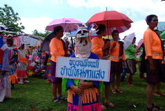 Phi Kon Nam Cultural in Chiang Khan Lizenzfreies Stockfoto