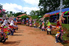 Phi Kon Nam Kulturalny w Chiang Khan Obrazy Royalty Free
