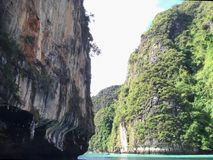 Phi Ley κόλπος, Phi Phi νησί, Ταϊλάνδη Στοκ φωτογραφία με δικαίωμα ελεύθερης χρήσης