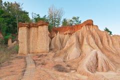 Phi Phae Muang, Parkbereich des Sediments verursacht durch Abnutzung in Thailand Stockbild