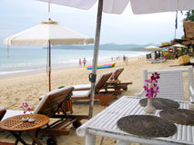 Phi Phi νησιά - η παραλία - Ταϊλάνδη Στοκ Εικόνες