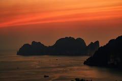 Phi Phi νησιά, Krabi, Ταϊλάνδη Στοκ Εικόνες