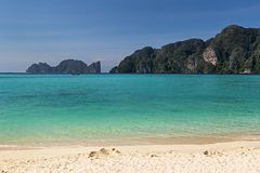 Phi Phi Don island in Krabi province of Thailand stock photography