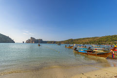 Phi-Phi Don shoreline Royalty Free Stock Images