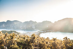Phi Phi Don view point, Thailand stock photo