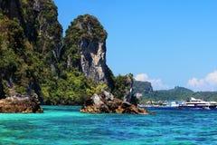 Phi Phi Eiland, Thailand Stock Afbeeldingen