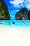 PHI-PHI INSEL, KRABI, THAILAND - 11. NOVEMBER 2016: Mayabucht pH Lizenzfreies Stockbild