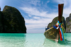 Phi Phi Island. In Phuket, Thailand. The place is infamous for its beauty and Cristal clear beach. This Island is where the movie The Beach was filmed Stock Images