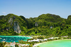 Phi phi island. View point of Phi phi island  thailand Stock Photography