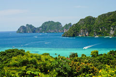 Phi phi island. View point of Phi phi island  thailand Stock Photos