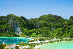 Phi phi island. View point of Phi phi island  thailand Royalty Free Stock Photography