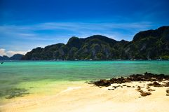 Phi phi island. Beautiful beach in phi phi island , Phuket, Thailand Stock Photos