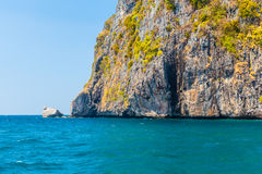 Phi Phi island cliff Stock Photography