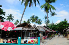Phi Phi Island Food Stands Stock Image
